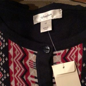 NWT Christopher & Banks women sweater 1X
